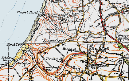 Old map of Banns in 1919