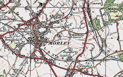 Old map of Bantam Grove in 1925