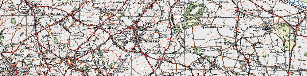 Old map of White Rose Centre in 1925