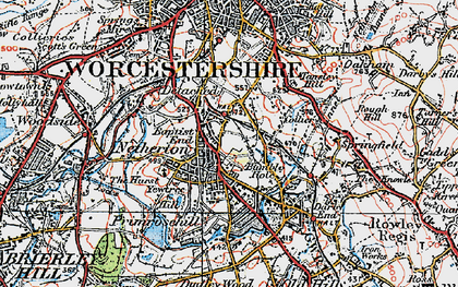 Old map of Baptist End in 1921