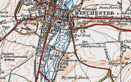 Old map of Bar End in 1919