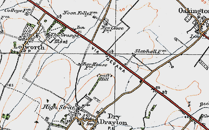 Old map of Bar Hill in 1920