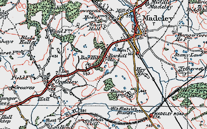 Old map of Aston Cliff in 1921