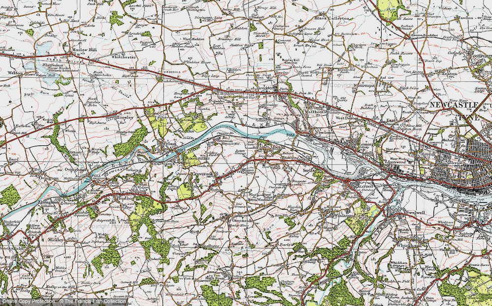Old Map of Bar Moor, 1925 in 1925