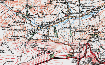Old map of Barber Booth in 1923