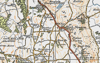 Old map of Barber Green in 1925