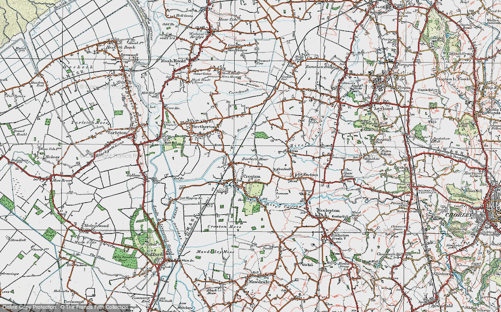 Old Map of Barber's Moor, 1924 in 1924