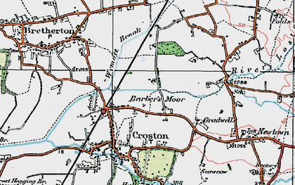 Old map of Barber's Moor in 1924