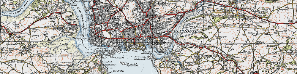 Old map of Barbican in 1919