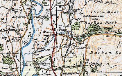 Old map of Barbon Beck in 1925