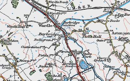 Old map of Barbridge in 1923