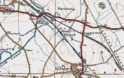 Old map of Barby Nortoft in 1919