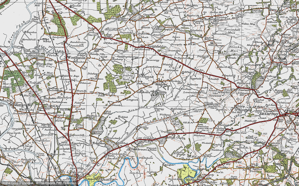 Old Map of Barclose, 1925 in 1925