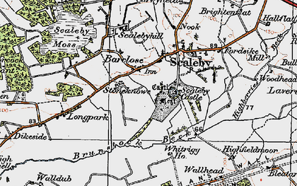 Old map of Barclose in 1925
