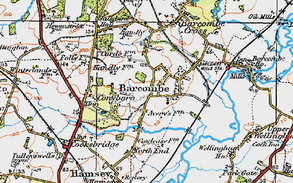 Old map of Averys in 1920