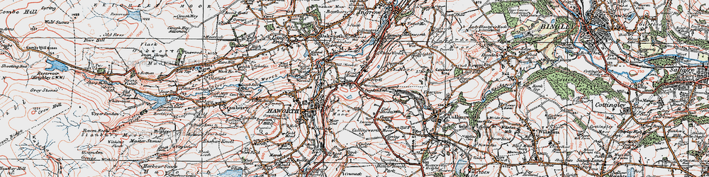 Old map of Worth Way in 1925