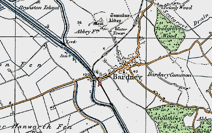 Old map of Bardney Common in 1923