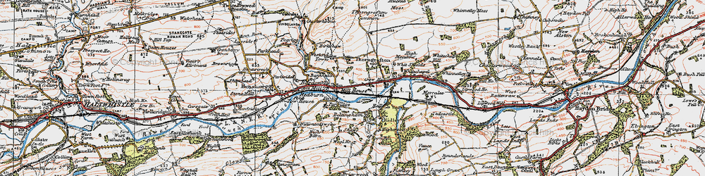 Old map of Bardon Mill in 1925