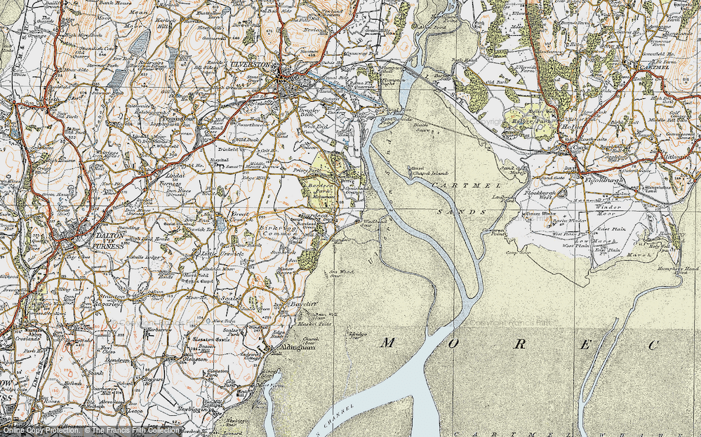 Old Map of Historic Map covering Bardsey Green in 1925