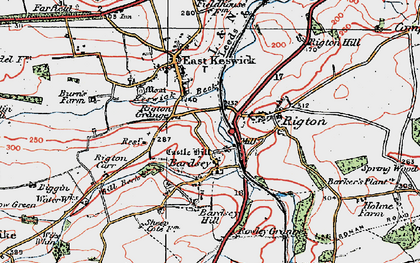 Old map of Barker's Plantn in 1925
