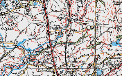 Old map of Bardsley in 1924