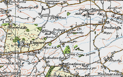 Old map of Bare Ash in 1919