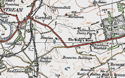 Old map of Bareless in 1926