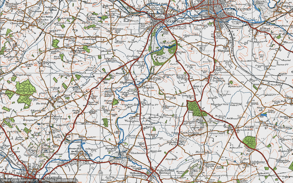 Old Map of Barford, 1919 in 1919