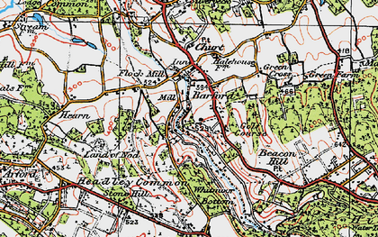 Old map of Barford in 1919