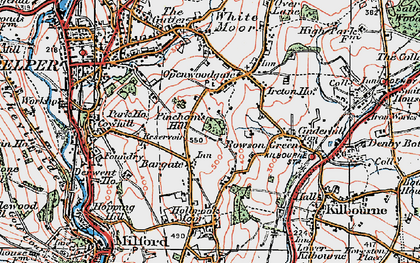 Old map of Bargate in 1921