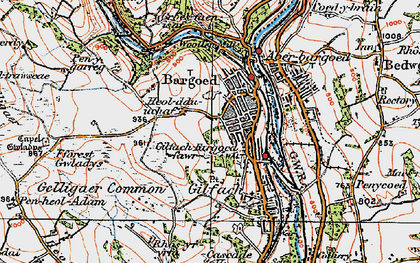 Old map of Bargoed in 1919