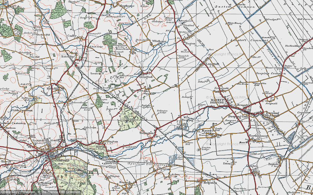 Old Map of Barholm, 1922 in 1922