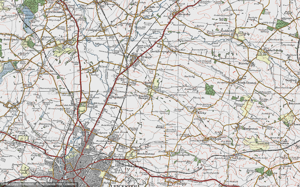 Old Map of Barkby, 1921 in 1921