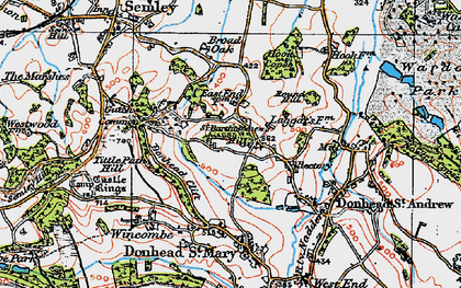 Old map of Barkers Hill in 1919
