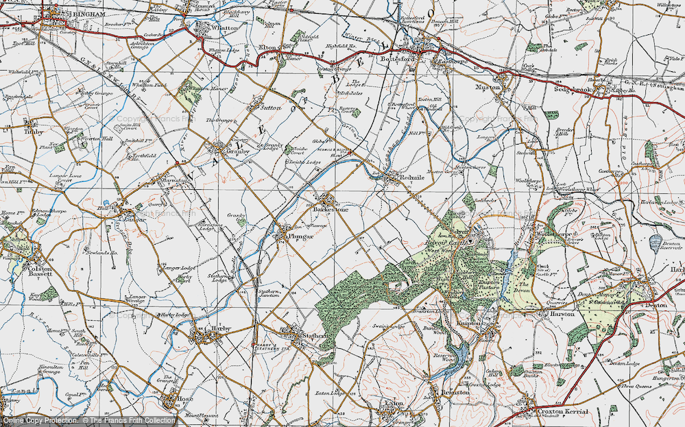 Old Map of Barkestone-le-Vale, 1921 in 1921