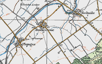 Old map of Barkestone-le-Vale in 1921