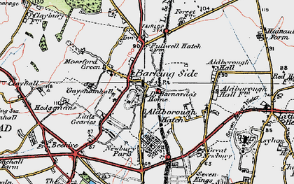 Old map of Barkingside in 1920