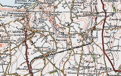 Old map of Barkla Shop in 1919