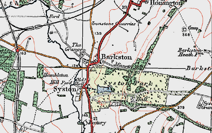 Old map of Barkston Granges in 1922
