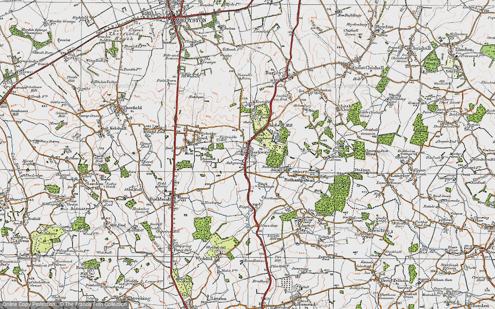 Old Map of Historic Map covering Ashgrove in 1920