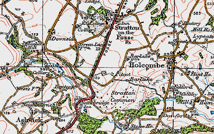 Old map of Barlake in 1919