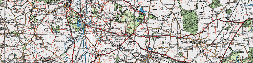 Old map of Barlborough in 1923