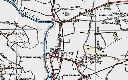 Old map of Barlby in 1924