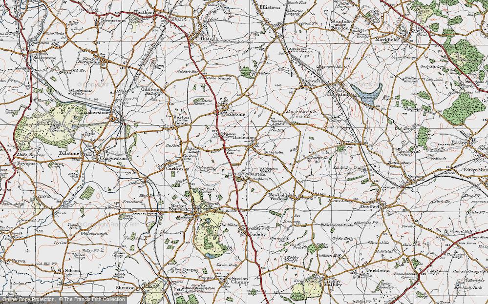 Old Map of Barlestone, 1921 in 1921