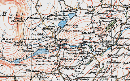 Old map of Barley in 1924