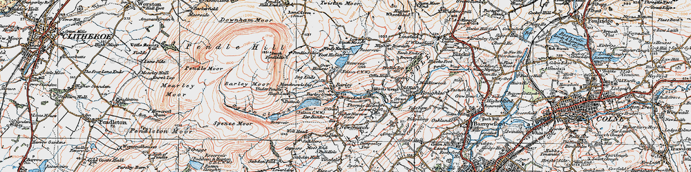 Old map of Aitken Wood in 1924