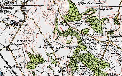 Old map of Barley End in 1920