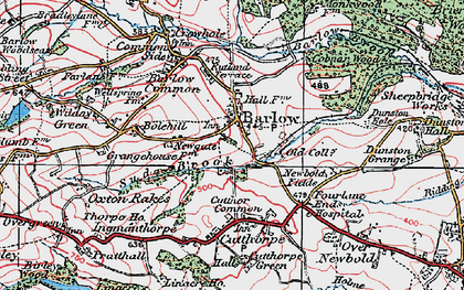 Old map of Barlow in 1923