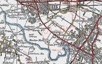 Old map of Barlow Moor in 1923