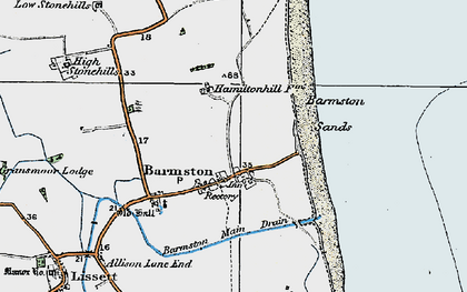 Old map of Barmston in 1924